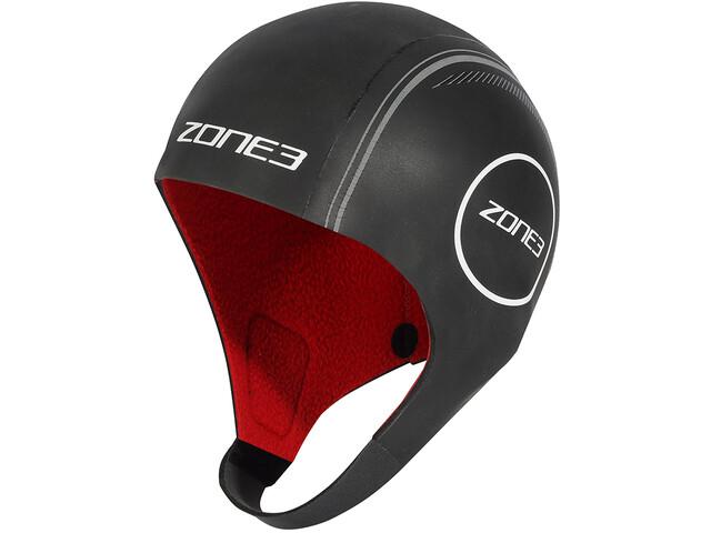Zone3 Heat-Tech Neoprene Swim Cap S black/silver/red